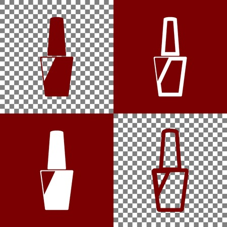 Nail Polish Sign Vector Bordo And White Icons And Line Icons