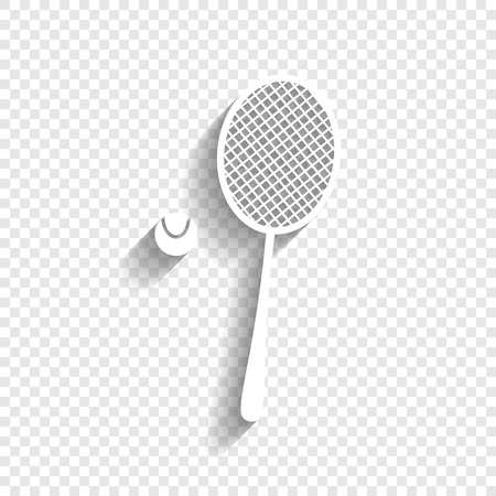 Tennis racket with ball sign.