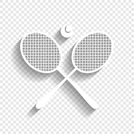 Two tennis racket with ball sign.