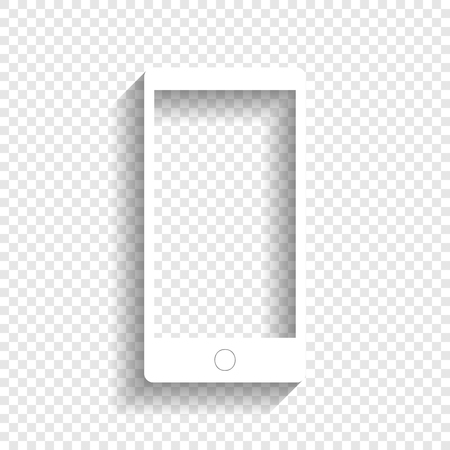 Abstract Style Modern Gadget With Blank Screen Template For