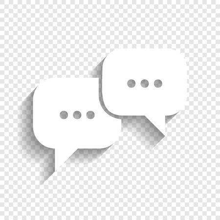 speech bubbles signe. vecteur icône avec l & # 39 ; ombre douce sur fond transparent . vecteur