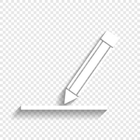 Pencil sign illustration. Illustration