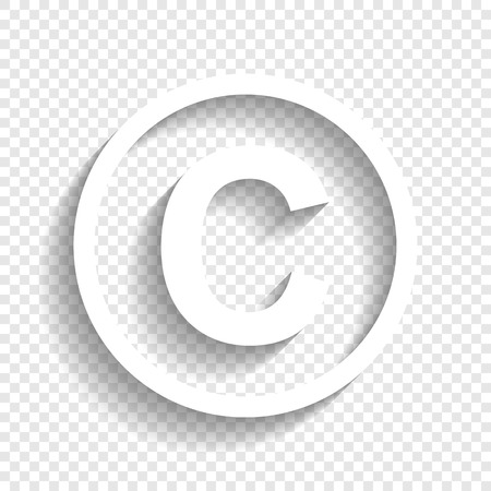 Copyright sign illustration.