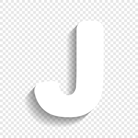 Letter J Template | Letter J Sign Design Template Element Vector White Icon With