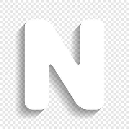 Letter n sign design template element vector white icon with letter n sign design template element vector white icon with soft shadow on transparent maxwellsz