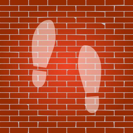 Imprint soles shoes sign.