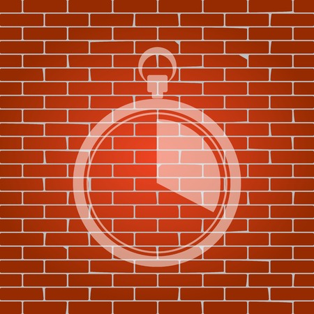 interval: The 20 seconds, minutes stopwatch sign on brick wall.
