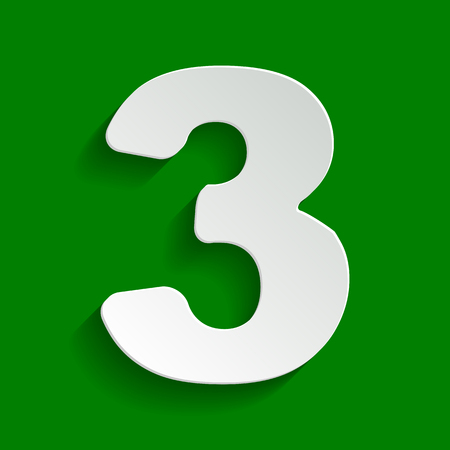 Number 6 Sign Design Template Element. Vector. White Icon With ...