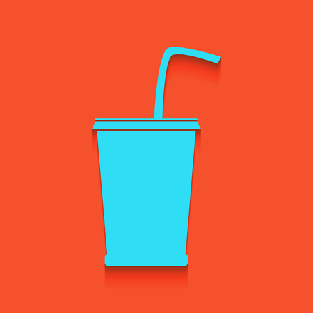 calorie: Drink sign illustration. Vector. Whitish icon on brick wall as background.