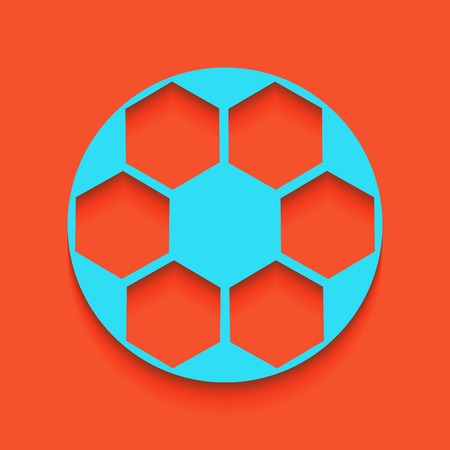 foot ball: Soccer ball sign. Vector. Whitish icon on brick wall as background.