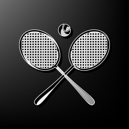 Two tennis racket with ball sign