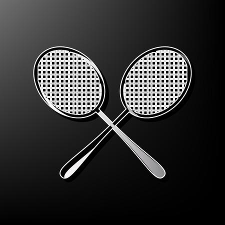 Two tennis racket sign Ilustração