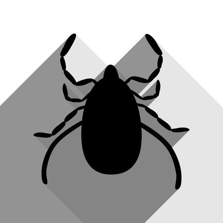 mite: Dust mite sign illustration.