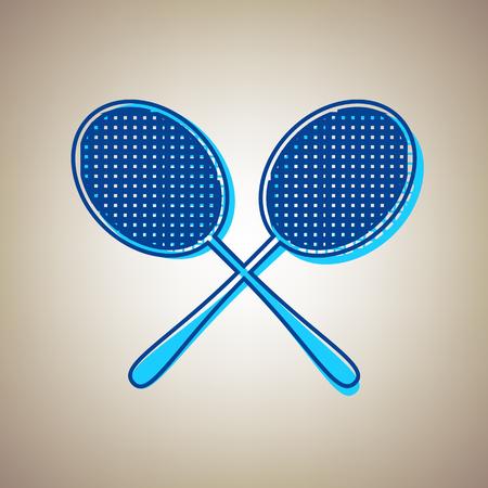 Two tennis racket icon. Illustration