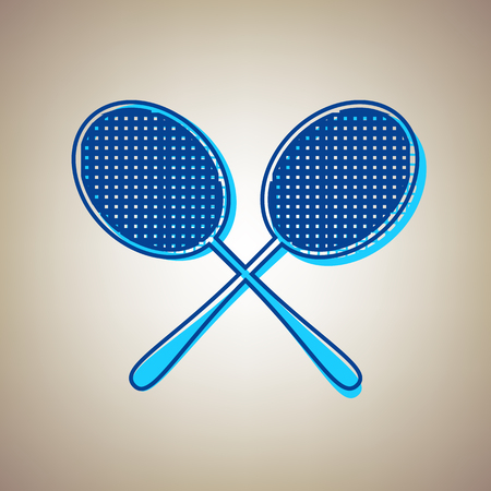 Two tennis racket icon. Ilustração