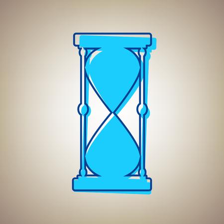 Hourglass sign illustration