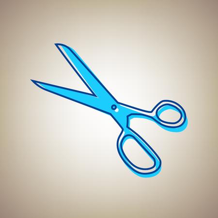 Scissors sign illustration
