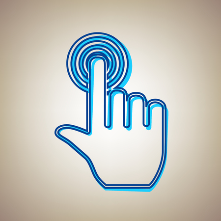 Hand sign clicking icon. Illustration