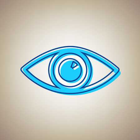Eye sign illustration.