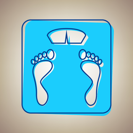 bathroom scale: Bathroom scale icon. Illustration