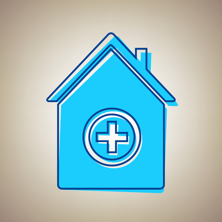 Hospital icon illustration.