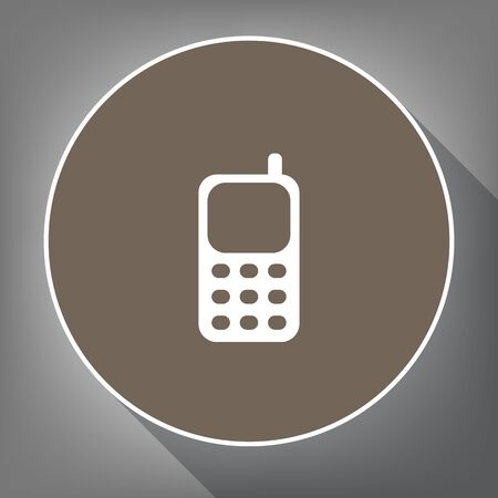 mobile device: Cell Phone sign. Illustration