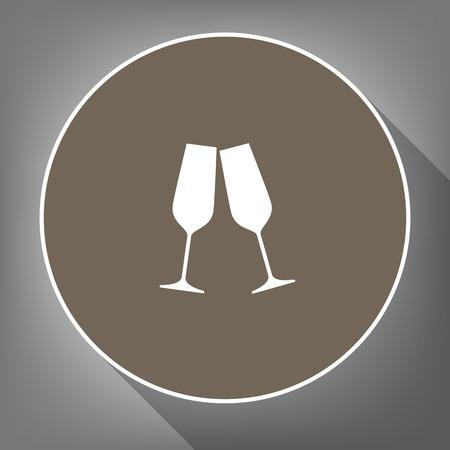 beginnings: Sparkling champagne glasses.