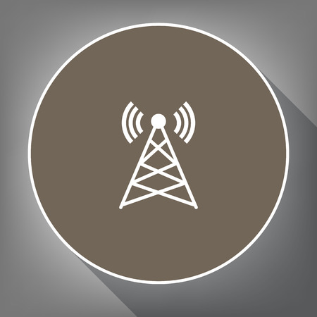 mobile communication: Antenna sign illustration.