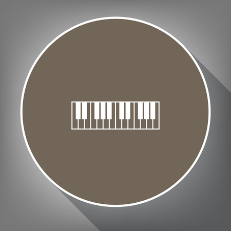 Piano Keyboard sign. Illustration