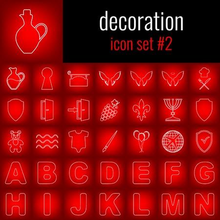 Set of decoration icons. Ilustração
