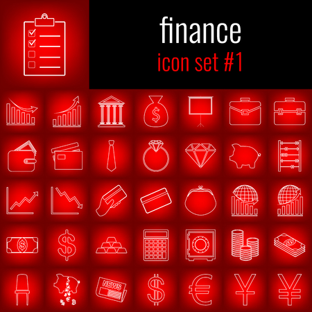 journalism: Set of finance icons.