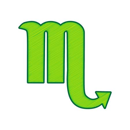 Scorpio sign icon.