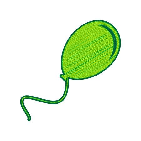 Green balloon icon.