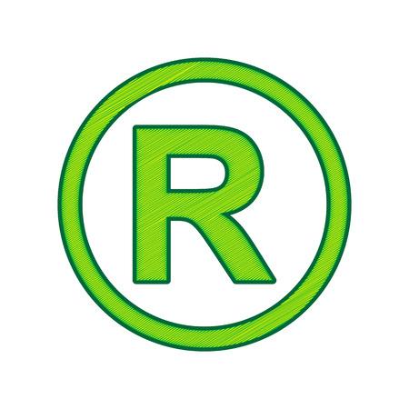 Registered trademark icon. Illustration