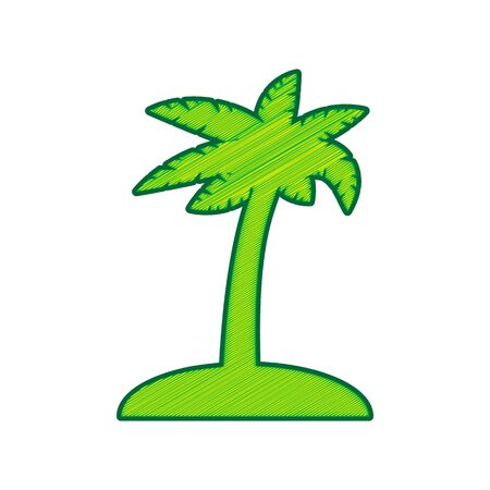 Coconut palm tree sign.