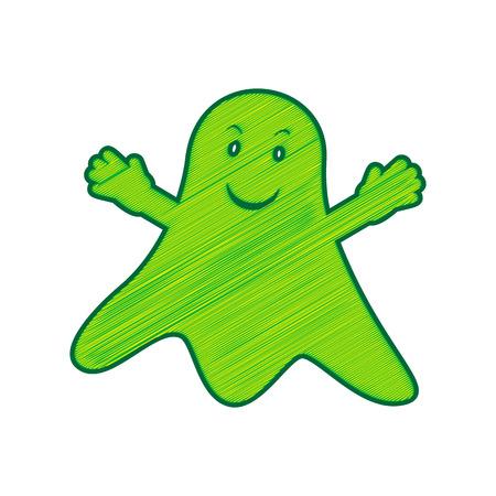 Ghost sign. Illusztráció