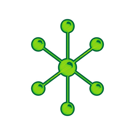Molecule sign illustration.