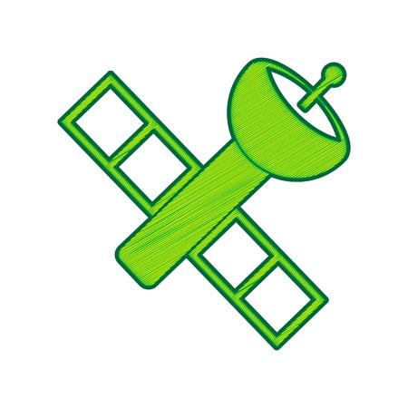 satellite signe illustration
