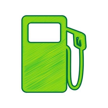 Gas pump sign. Stock Vector - 86388520