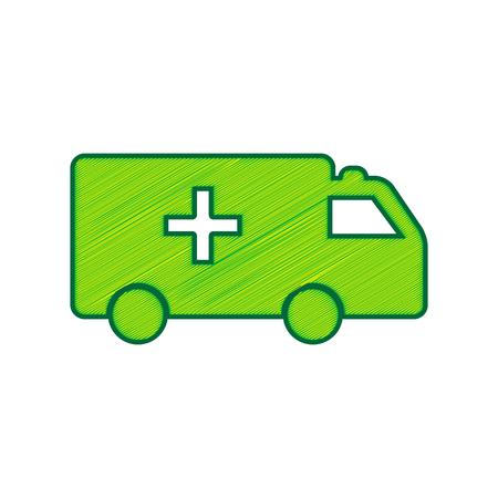 Ambulance sign illustration. Illustration