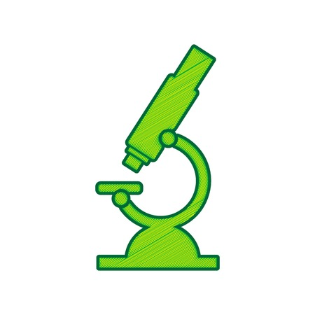 Chemistry microscope sign for laboratory.