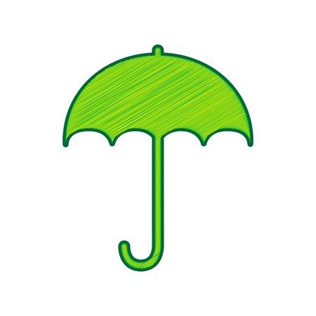 傘のサインアイコン。