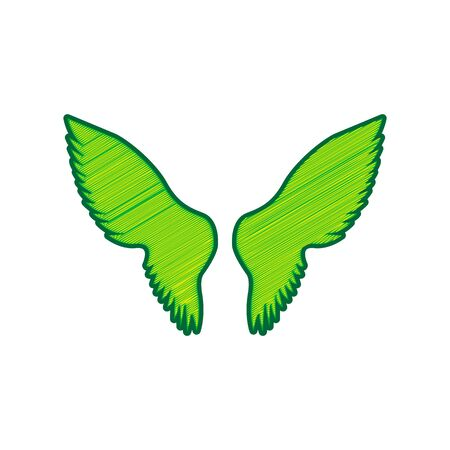 Wings sign illustration.