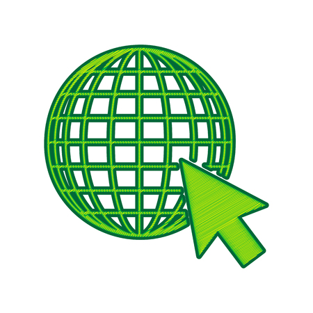 Earth Globe with cursor.