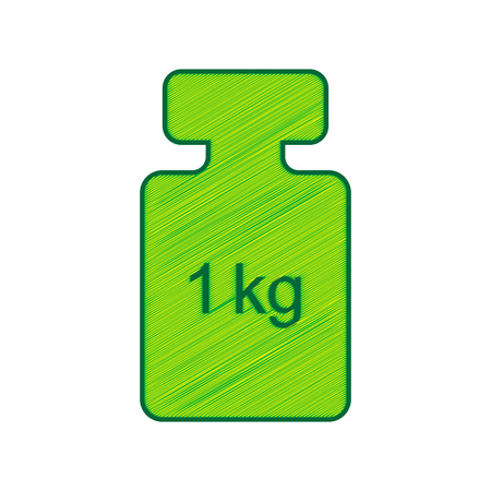 Weight simple sign.