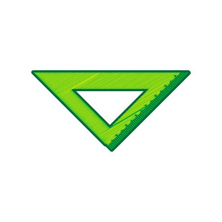 Ruler sign illustration. Vector. Lemon scribble icon on white background. Isolated