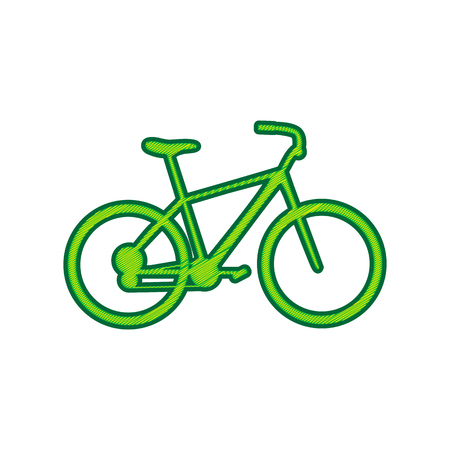 Bicycle, Bike sign in Lemon scribble icon on white background.