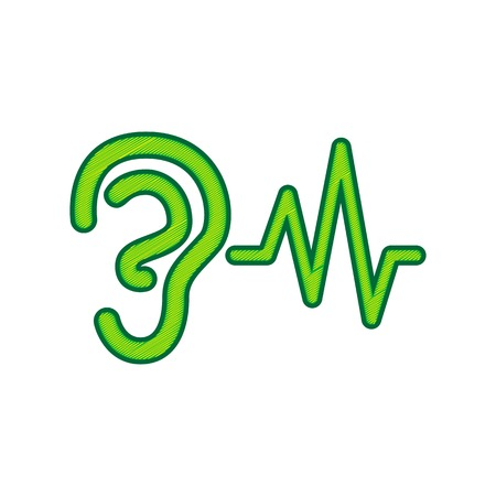 Ear hearing sound icon. Иллюстрация