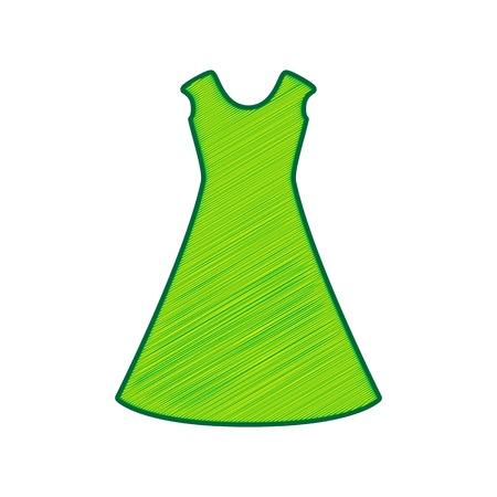 cor: Green dress icon.