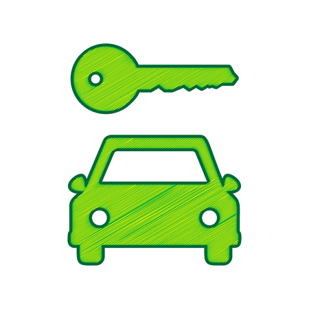 Car and key icon.